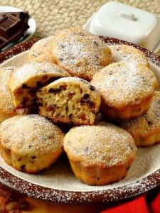 muffin uvetta mandorle